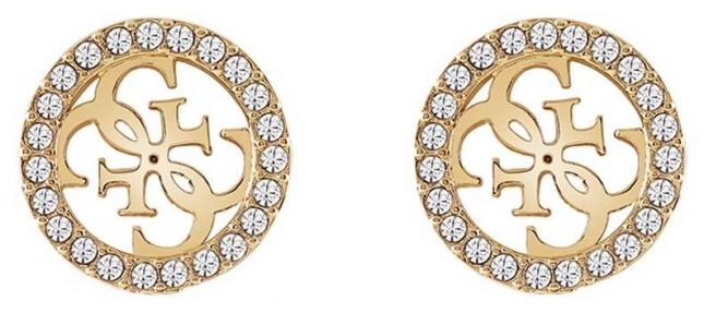 Guess | Tropical Sun | Gold Clear Crystal Earrings | UBE78005