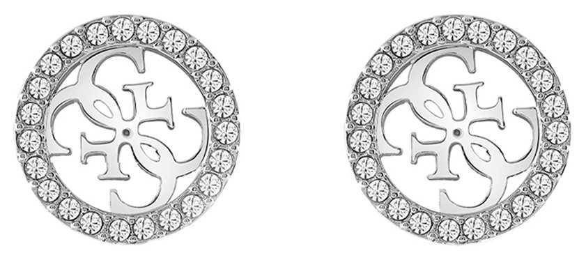 Guess | Tropical Sun | Silver Crystal Stud Earrings | UBE78004
