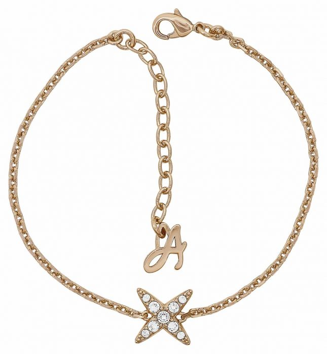 Adore 4 Point Star Bracelet 6.5-8″ Rose Gold Plated 5303131