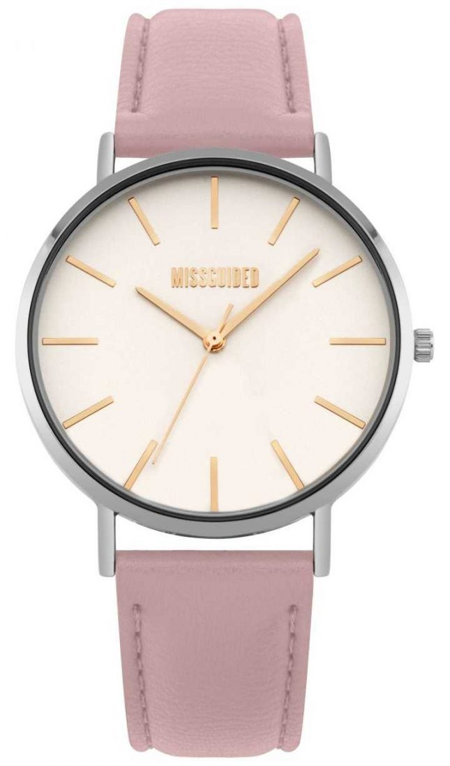 Missguided | Ladies Watch | Pink Leather Strap White Dial | MG017P