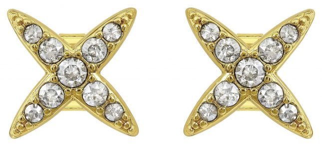 Adore 4 Point Star Earrings Gold Plated 5259858