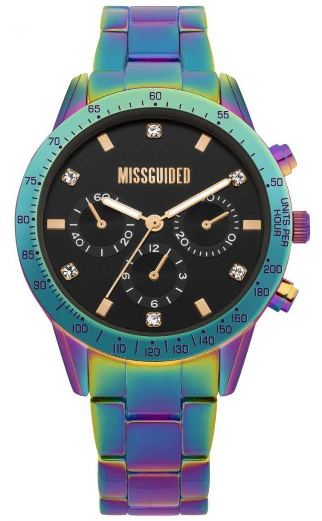 Missguided | Ladies Watch | Multicolour Stainless Steel | MG004UPM