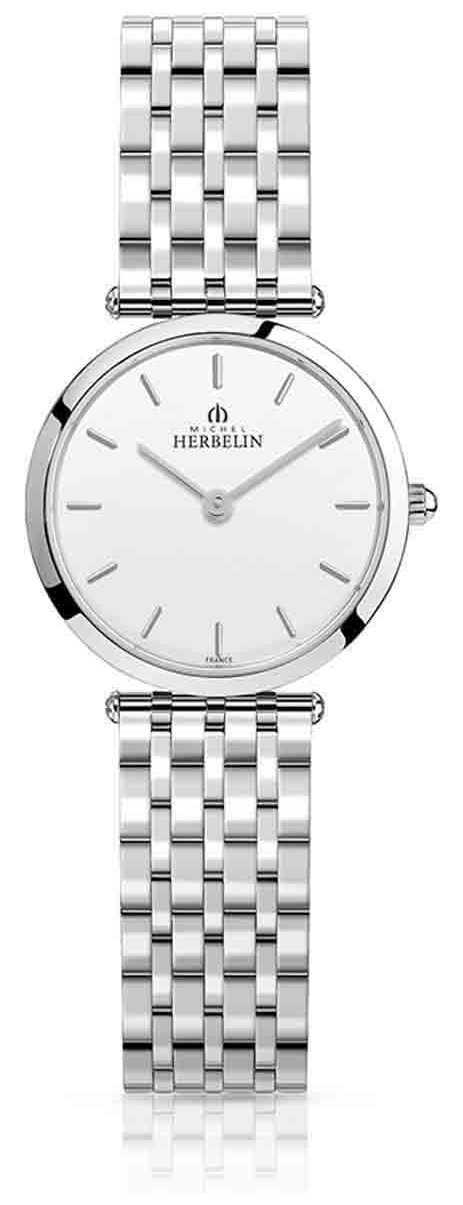 Michel Herbelin | Womens | Epsilon | Stainless Steel Bracelet | White Dial | 17116/B11
