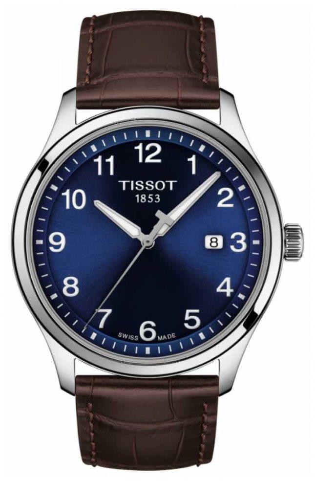 Tissot | Mens XL | Blue Dial | Brown Leather Strap | T1164101604700
