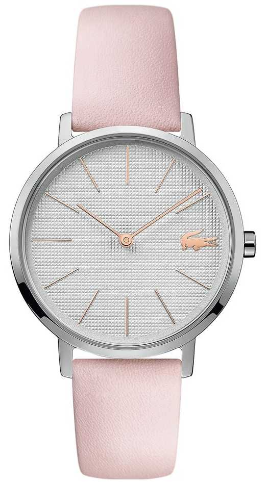 Lacoste | Womens Moon | Pink Leather Strap | Silver Dial | 2001070