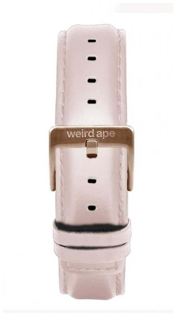 Weird Ape Pink Leather 16mm Strap Only Rose Gold Buckle ST01-000112