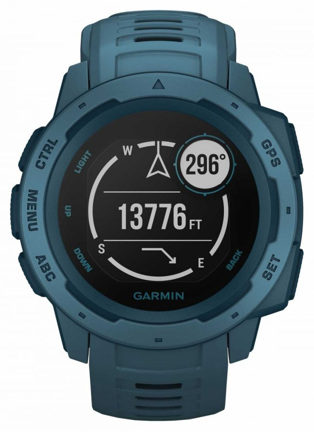 Garmin Instinct Lakeside Blue Outdoor GPS Silicone Strap 010-02064-04