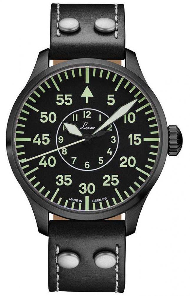 Laco | Bielefeld 42 | Automatic Pilot | Black Leather Strap | 861760.2