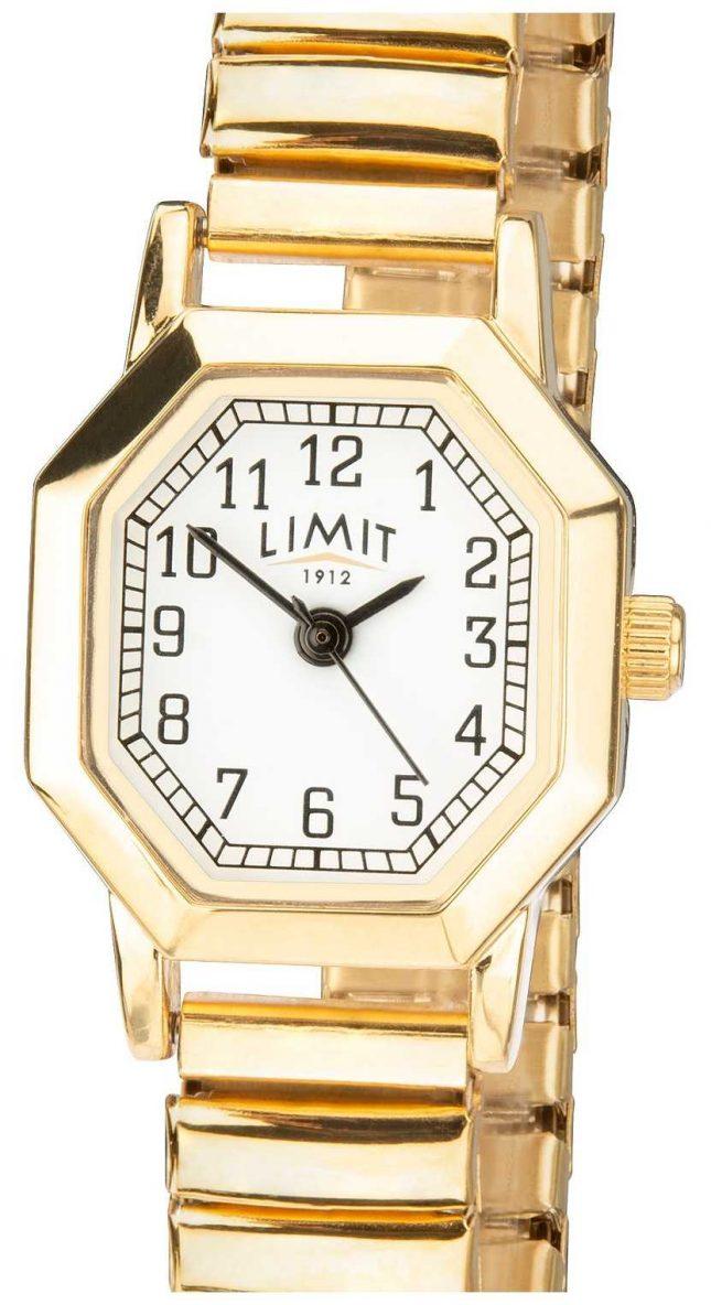 Limit | Womens Gold Tone Expandable Bracelet | White Dial | 6498