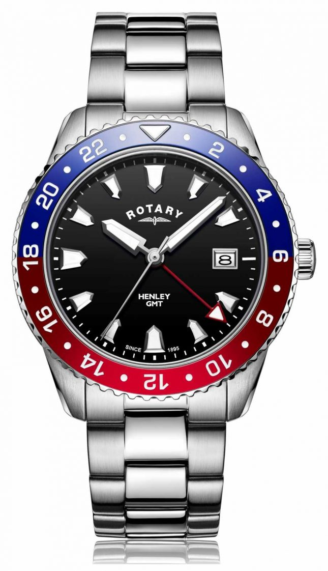 Rotary | Gents Stainless Steel Bracelet | Black Dial | GB05108/30