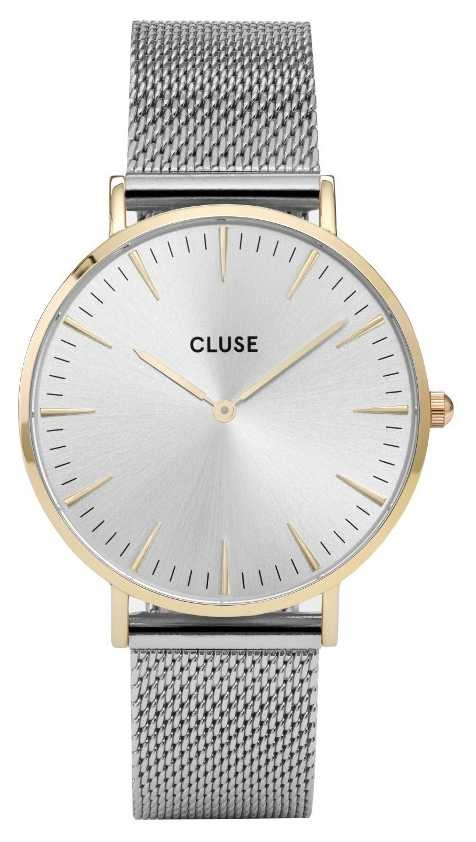 CLUSE | La Bohème | Silver Mesh Bracelet | Gold Case | Silver Dial CW0101201016