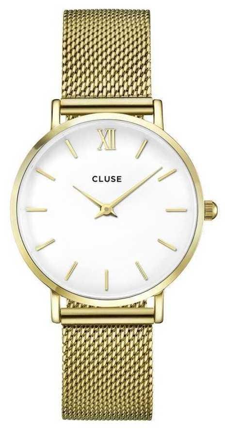 CLUSE | Womens Minuit | Gold Mesh Bracelet | White Dial | CW0101203007