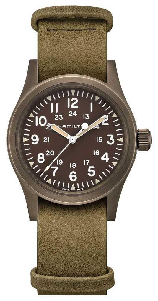 Hamilton | Khaki Field Mechanical | Brown Dial | Leather Strap | H69449861