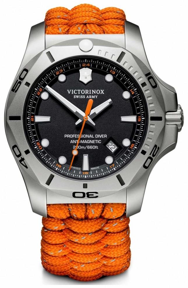 Victorinox Swiss Army | Mens I.N.O.X Professional Diver | Black Dial |Orange Strap 241845