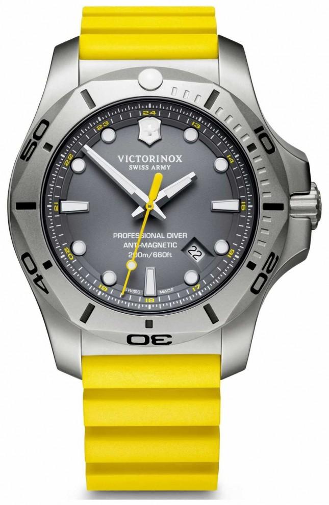 Victorinox Swiss Army | Mens I.N.O.X Professional Diver | Grey Dial | Yellow Strap 241844
