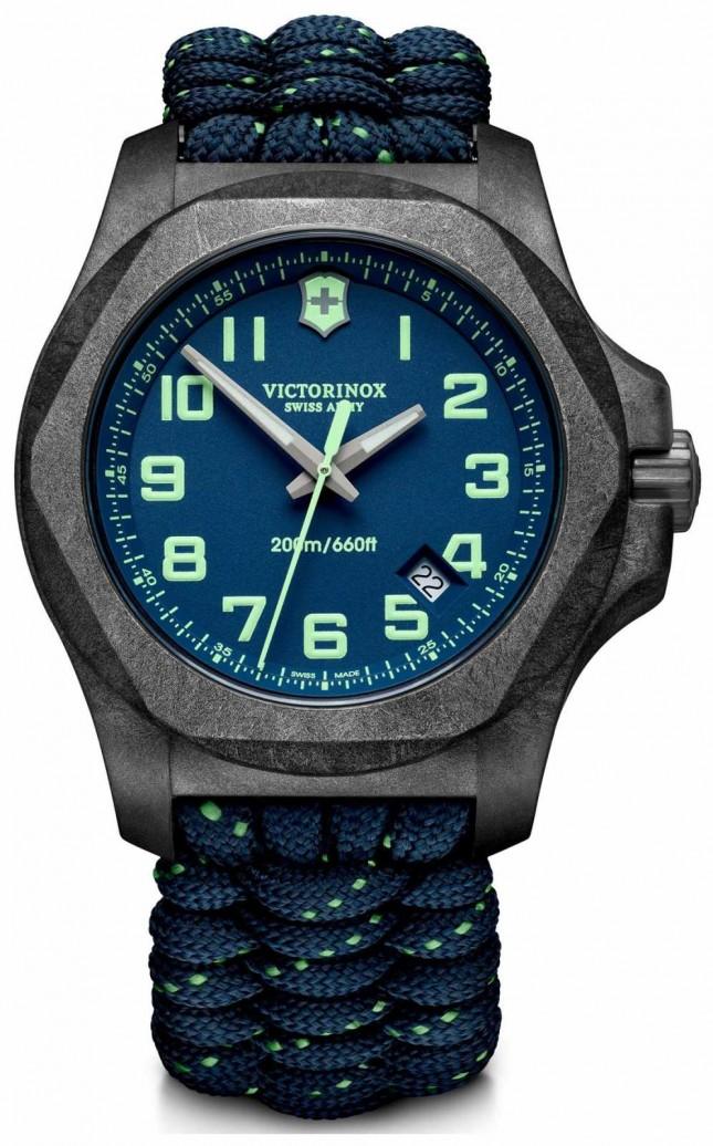Victorinox Swiss Army | Mens I.N.O.X Carbon | Blue Dial | Blue Paracord Strap | 241860