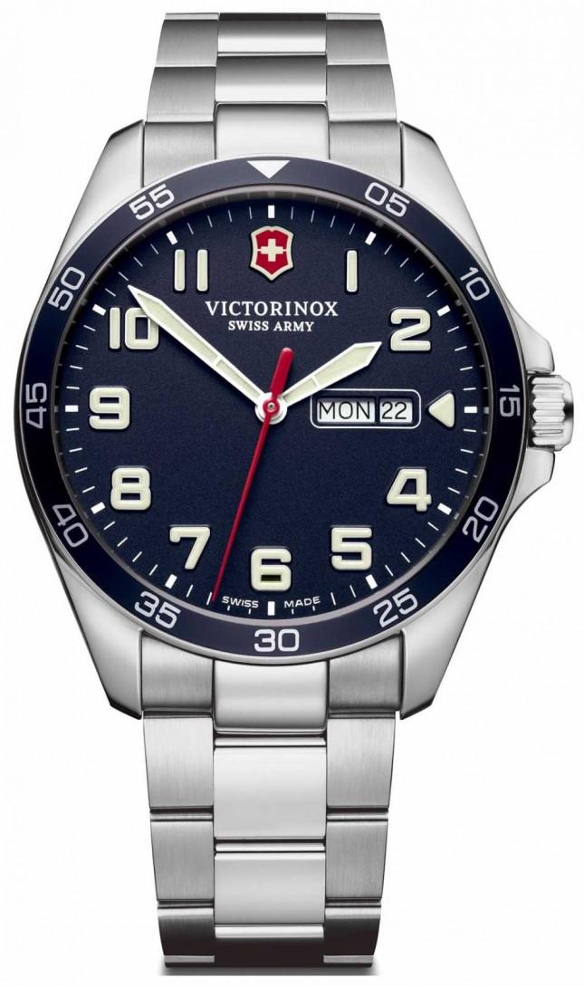 Victorinox Swiss Army | Mens Fieldforce | Stainless Steel Bracelet | Blue Dial | 241851