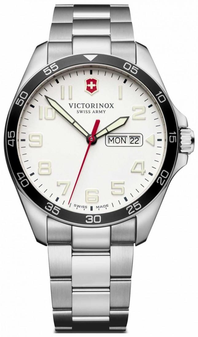 Victorinox Swiss Army | Mens Fieldforce | Stainless Steel Bracelet | White Dial | 241850