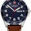Victorinox Swiss Army   Mens Fieldforce   Brown Leather Strap   Blue Dial   241848