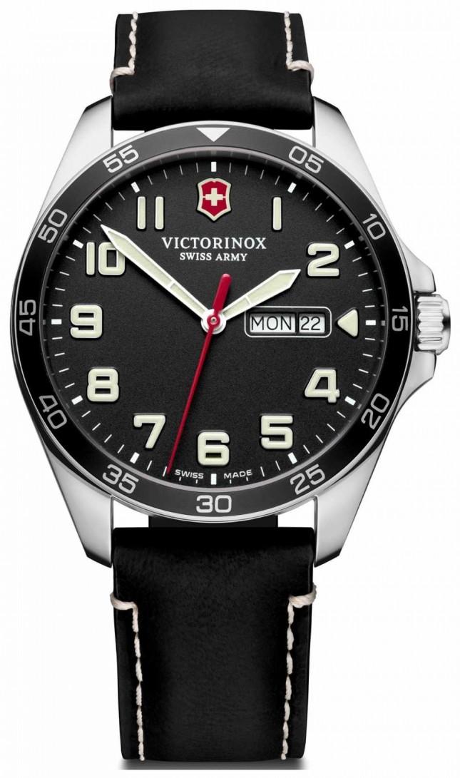 Victorinox Swiss Army | Mens Fieldforce | Black Leather Strap | Black Dial | 241846