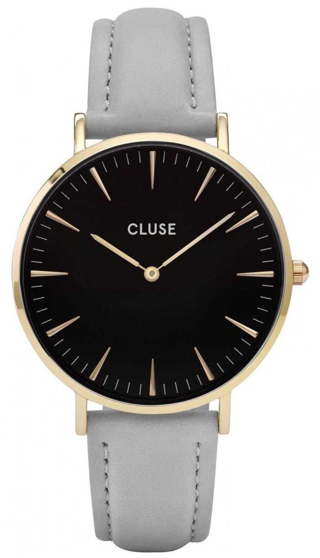 CLUSE   La Bohème   Grey Leather Strap   Black Dial   Gold Case   CL18411