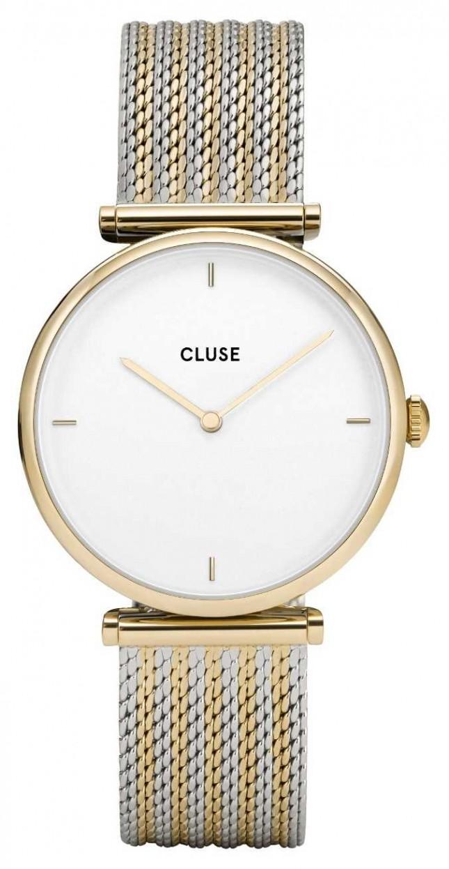 CLUSE | Triomphe | Two-Tone Mesh Bracelet | White Dial | CW0101208002