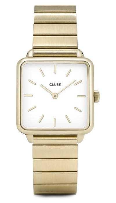 CLUSE | La Tétragone | Gold Single Link Bracelet | White Dial | CW0101207022