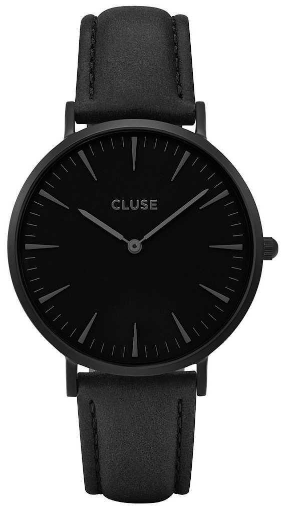 CLUSE | La Bohème | Black Leather Strap | Black Dial | CW0101201018