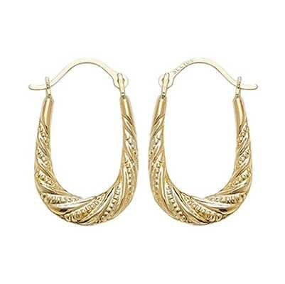 Treasure House 9k Yellow Gold Creole Hoop Earrings ER474