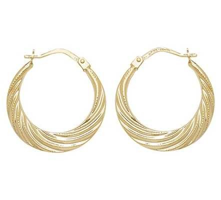 Treasure House 9k Yellow Gold Creole Hoop Earrings ER073