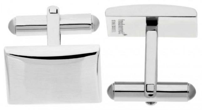 Fred Bennett Mens Stainless Steel Rectangle Cuff Links V509