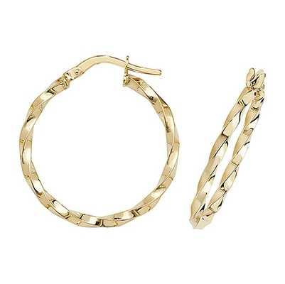 James Moore TH 9k Yellow Gold Hoop Earrings 20 mm ER1008-20
