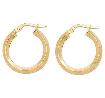 Treasure House 9k Yellow Gold Hoop Earrings 15 mm ER998-15