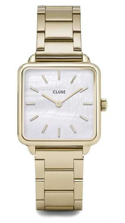 CLUSE | La Tétragone | Gold Three Link Bracelet | Mother Of Pearl CW0101207025