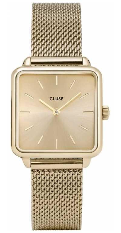 CLUSE | La Tétragone | Gold Mesh Strap | Gold Dial | CW0101207015