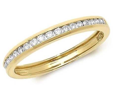 Treasure House 9k Yellow Gold Diamond Channel Set Eternity Ring RD570