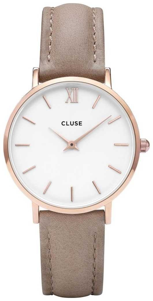 CLUSE | Womens Minuit | Hazelnut Leather Strap | White Dial | CL30043