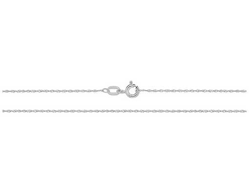 James Moore TH 9k White Gold Singarope Chain 16″ CH216W/16