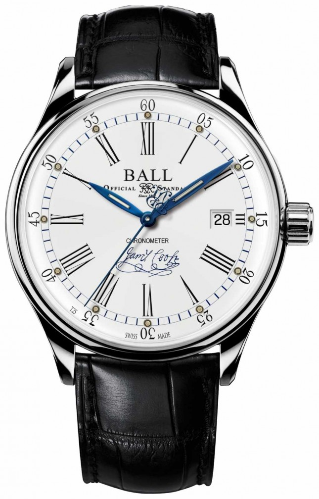Ball Watch Company Trainmaster Endeavour Chronometer Limited Edition Leather NM3288D-LL2CJ-WH
