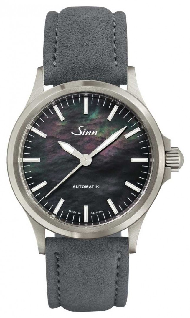 Sinn 556 I Mother-of-pearl S 556.0105 GREY FABRIC STRAP