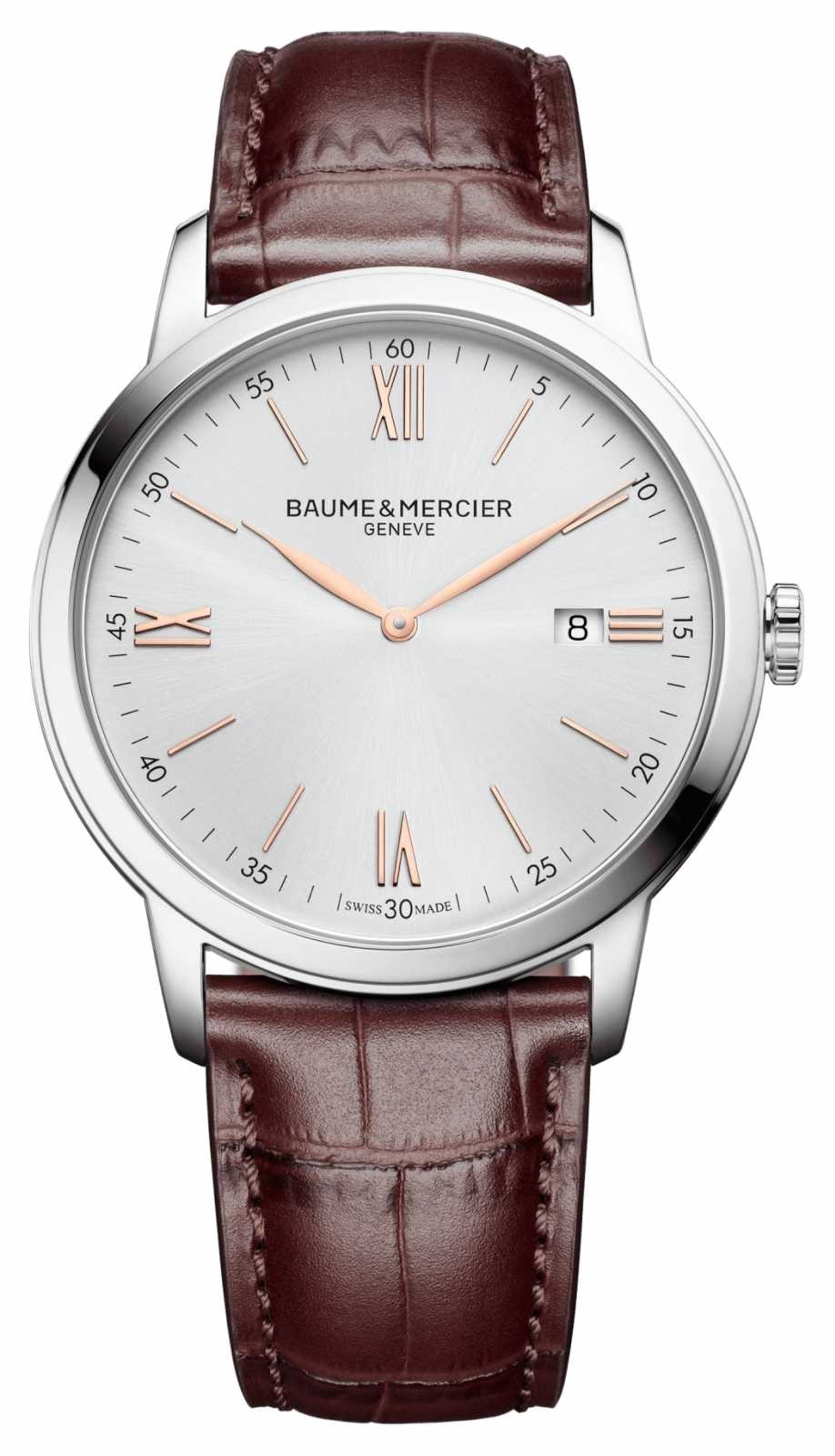 Baume & Mercier | Mens Classima | Light Brown Leather | Silver Dial | M0A10415