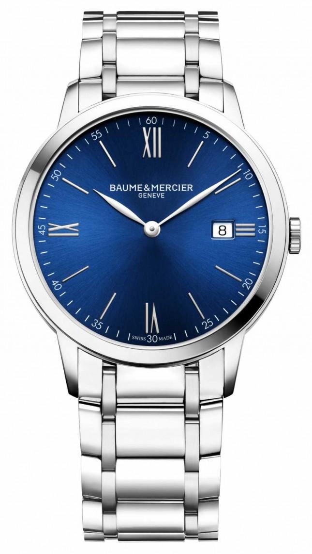 Baume & Mercier   Mens Classima   Stainless Steel Bracelet   Blue Dial   M0A10382