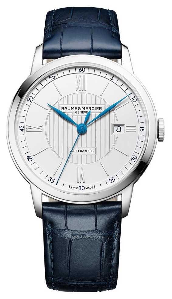 Baume & Mercier | Men's Classima | Automatic | Blue Leather | Silver Dial | M0A10333