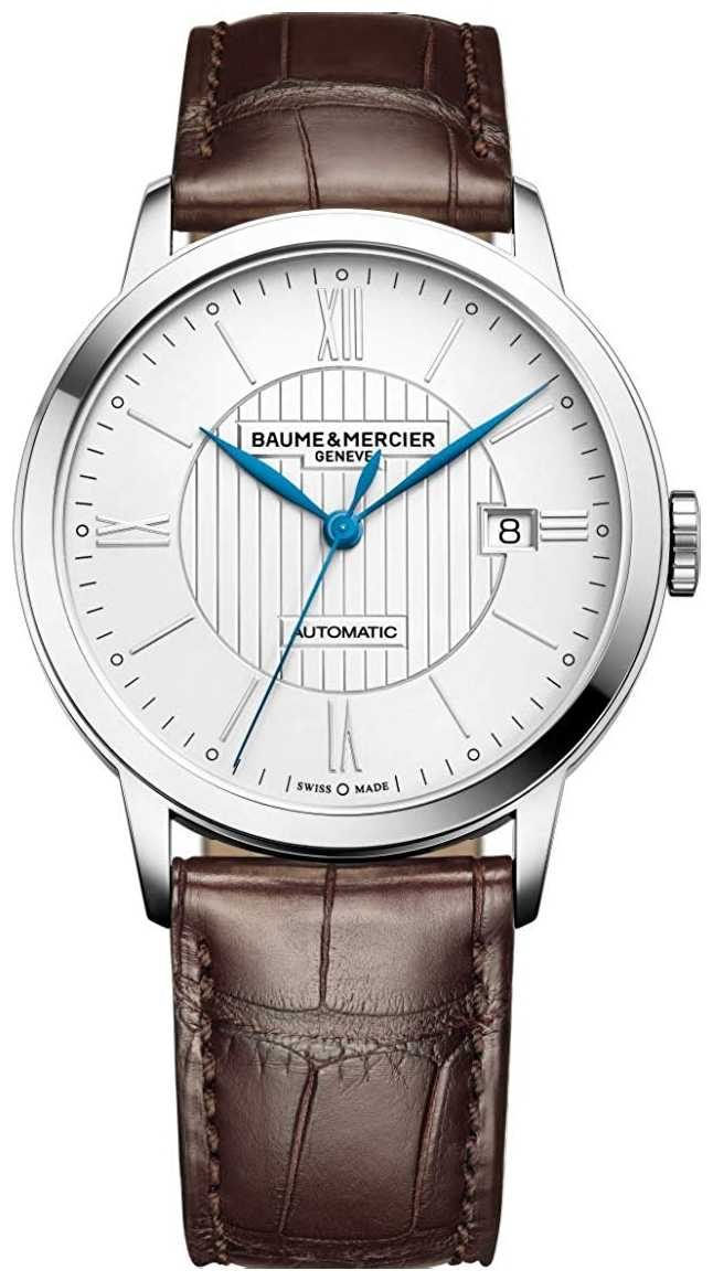 Baume & Mercier   Mens Classima   Automatic   Brown Leather   Silver Dial   M0A10214