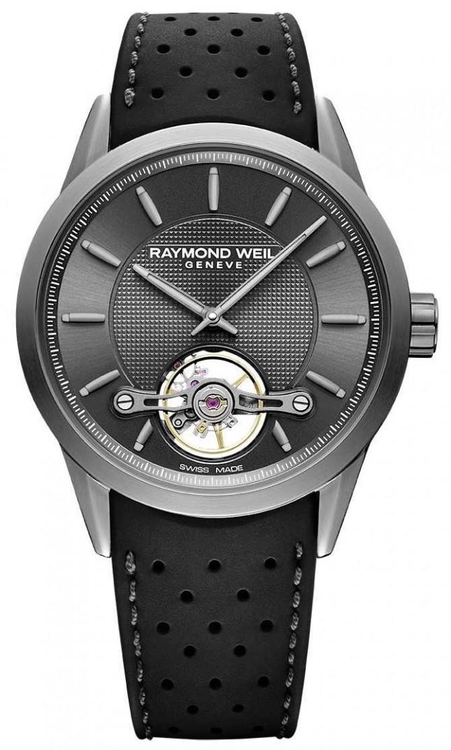 Raymond Weil Mens | Freelancer Automatic Grey Dial | Black Rubber Strap | 2780-TIR-60001