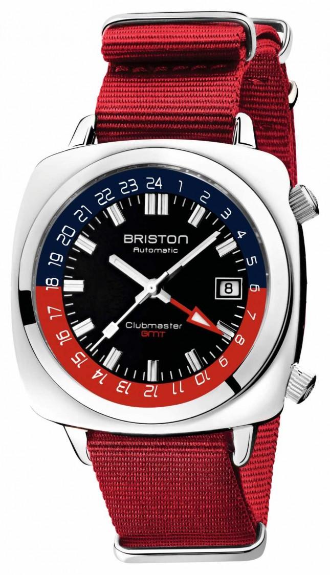 Briston Clubmaster GMT Limited Edition   Auto   Red Nato Strap 19842.PS.G.P.NR