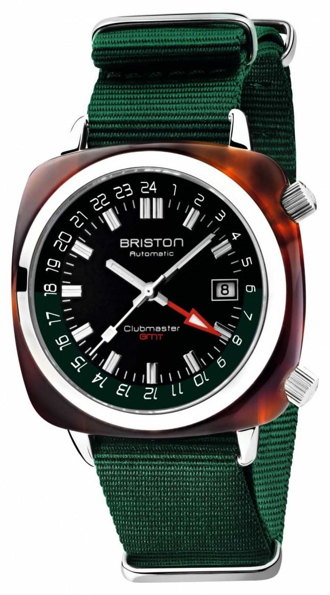 Briston Clubmaster GMT Limited Edition   Auto   Green Nato Strap 19842.SA.T.10.NBG