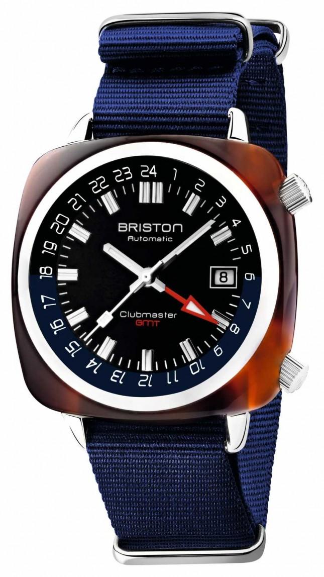 Briston Clubmaster GMT Limited Edition   Automatic   Blue Nato Strap 19842.SA.T.9.NNB