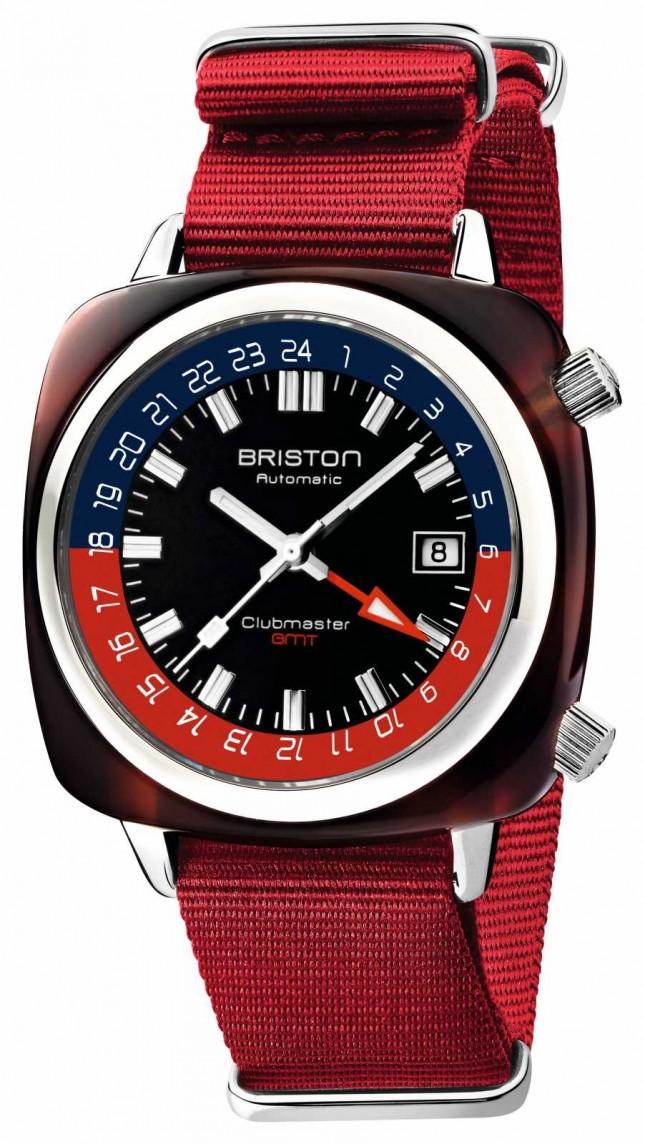 Briston Clubmaster GMT Limited Edition   Automatic   Red Nato Strap 19842.SA.T.P.NR