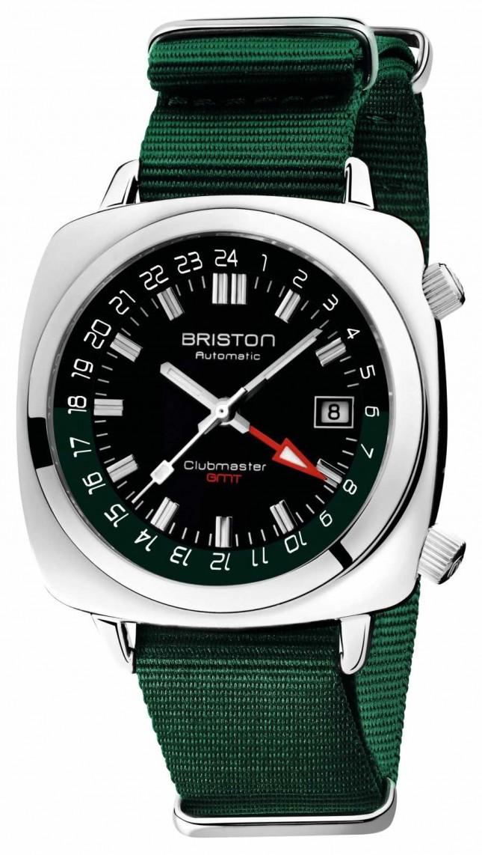 Briston Clubmaster GMT Limited Edition   Auto   Green Nato Strap 19842.PS.G.10.NBG